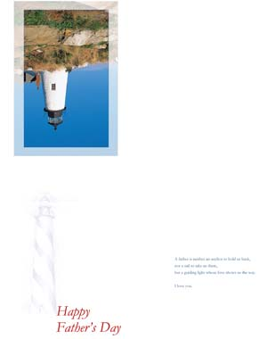 Fathers Day Lighthouse Card