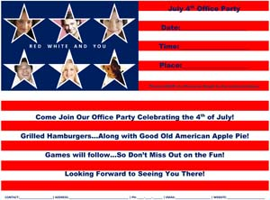 July 4th Office Party Flyer #1