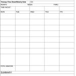 Outpatient Physical Therapy Flow Sheet Weekly Note