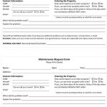 Sample Maintenance Request Form