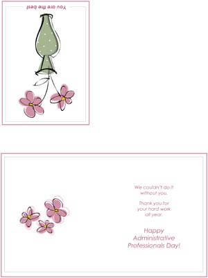 Thank You Administrative Professionals' Day Card #3