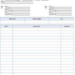 Sample Business Packaging Slip Invoice
