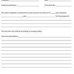 Sample Employee Overtime Permit