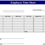 Sample Employee Time Sheets