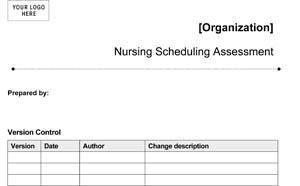 Medical Office Nursing Scheduling Assessment (Sample)