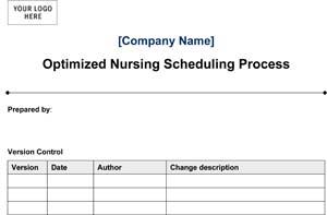 Medical Office Optimized Nursing Scheduling Process (Sample)
