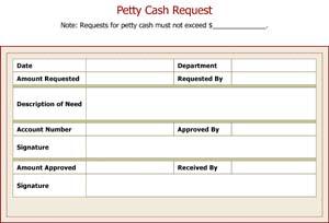 Petty Cash Request